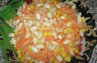 Салат Витаминный с капустой и морковью (пошаговый фото рецепт)
