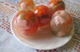 Заливные яйца (пошаговый фото рецепт)