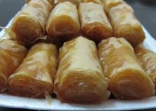 Трубочки из теста фило (пошаговый фото рецепт)