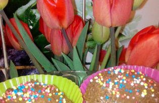 Шоколадные маффины (пошаговый фото рецепт)