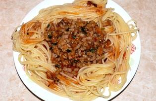 Спагетти с мясным соусом (пошаговый фото рецепт)