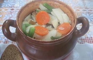 Жаркое с мясом в горшочках (пошаговый фото рецепт)