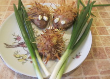 Ежики из куриного фарша (пошаговый фото рецепт)