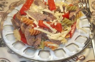 Теплый салат с куриной печенью (пошаговый фото рецепт)