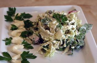 Салат со шпинатом (пошаговый фото рецепт)