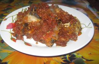Салака в духовке (пошаговый фото рецепт)