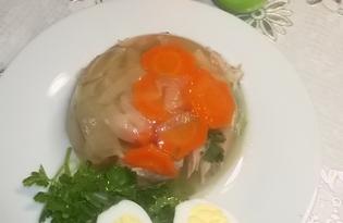 Куриный холодец с желатином (пошаговый фото рецепт)