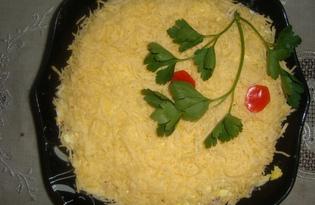 Салат с копченой грудинкой (пошаговый фото рецепт)