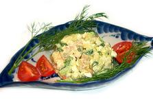 Салат с копченым угрем и сельдереем (пошаговый фото рецепт)
