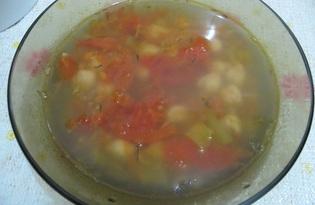Суп с нутом и помидорами в мультиварке (пошаговый фото рецепт)