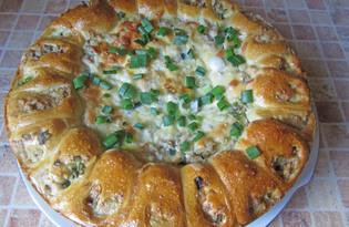 Дрожжевой пирог с курицей (пошаговый фото рецепт)