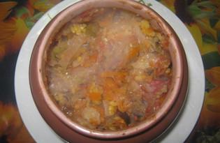 Кукурузная каша с овощами в горшочке (пошаговый фото рецепт)
