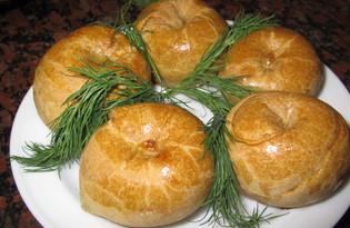 Слоеные пирожки с картошкой (пошаговый фото рецепт)