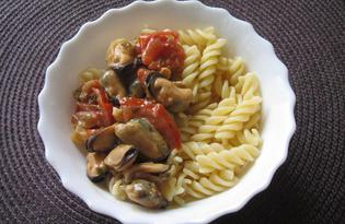 Мидии с овощами (пошаговый фото рецепт)