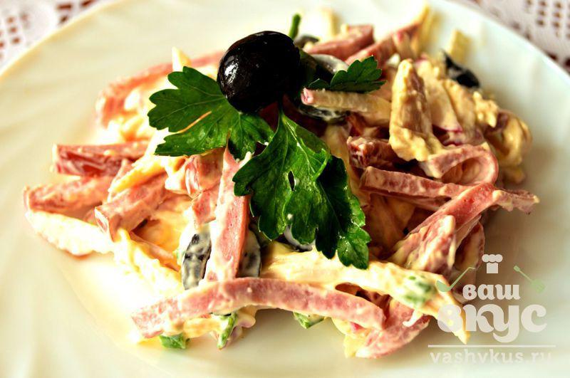 Салаты с копченой говядиной рецепты с