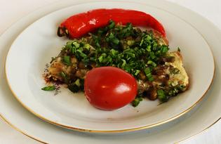 Зеленый омлет (пошаговый фото рецепт)