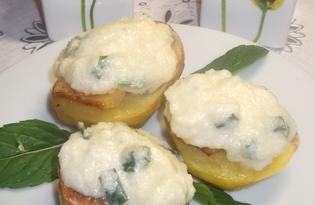 Печеный картофель с икрой мойвы (пошаговый фото рецепт)