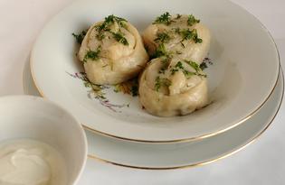 Манты - позы с мясом и квашеной капустой (пошаговый фото рецепт)