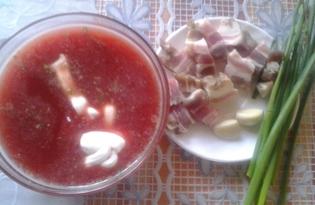 Борщ из варёной свеклы и холодца на скорую руку (пошаговый фото рецепт)