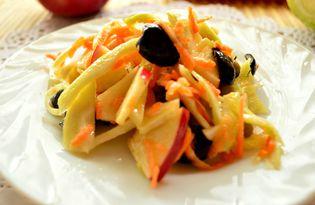 Капустный салат с яблоком (пошаговый фото рецепт)