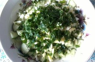 """Салат с пекинской капустой и зеленью """"Вкус лета"""" (пошаговый фото рецепт)"""