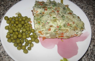 Овощной омлет (пошаговый фото рецепт)