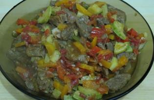 Говядина с кабачком и морковью (пошаговый фото рецепт)
