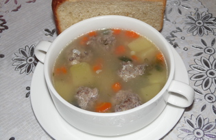 Суп с говяжьими фрикадельками в мультиварке Delfa (пошаговый фото рецепт)