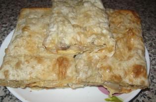 Конверт из лаваша с начинкой из грибов (пошаговый фото рецепт)