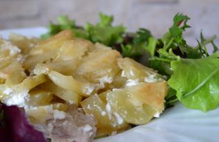 Свинина с картофелем в сметанном соусе в духовке (пошаговый фото рецепт)