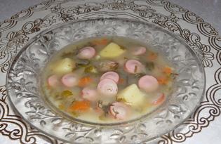 Суп с чечевицей и сосисками в мультиварке Delfa (пошаговый фото рецепт)