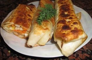 Закуска из лаваша с картофелем и грибами (пошаговый фото рецепт)