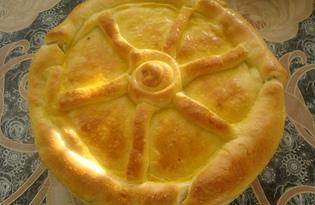 Пирог с грибами и луком (пошаговый фото рецепт)