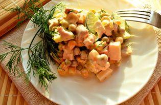 Салат на скорую руку с курицей (пошаговый фото рецепт)