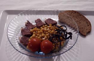 Баранье седло с нутом и стрелками чеснока (пошаговый фото рецепт)