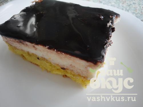 Торт птичье молоко с желатином пошаговый