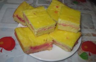 Творожный десерт, запеченный с киселем (пошаговый фото рецепт)