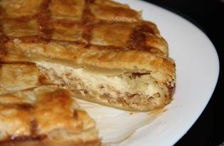 Сырно - луковый пирог из слоеного теста Onion Pie (пошаговый фото рецепт)