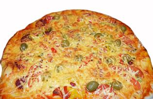 Пицца с салями (пошаговый фото рецепт)