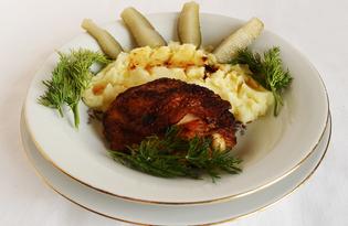 Жаркое из курицы в чесночном маринаде (пошаговый фото рецепт)