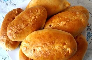 Пирожки с бланшированной капустой и яйцом (пошаговый фото рецепт)
