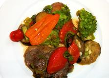 Стейк из свинины с овощами (пошаговый фото рецепт)