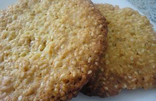 Домашнее печенье с кунжутом (пошаговый фото рецепт)