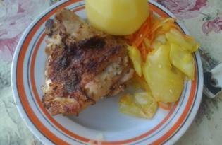 Шашлык из куриных бёдрышек (пошаговый фото рецепт)