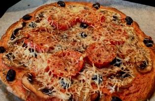 Итальянская пицца с грибами (пошаговый фото рецепт)