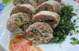 Куриные колбаски с сыром и зеленью (пошаговый фото рецепт)