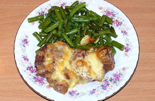 Запеченная свинина с жареной фасолью (пошаговый фото рецепт)