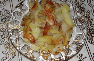 Жареная картошка пропаренная (пошаговый фото рецепт)