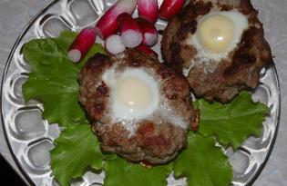 Гнезда из фарша с перепелиными яйцами (пошаговый фото рецепт)