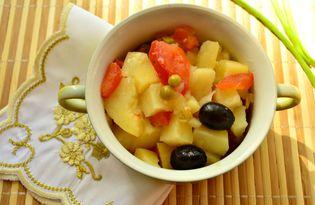 Картофель с помидорами на курином бульоне в горшочке (пошаговый фото рецепт)